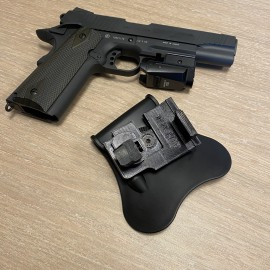 HiCapa/ M1911 Quick Draw Holster for Flashlights (With Belt Paddle)