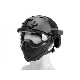 Pilot Helmet Steel Mesh Black