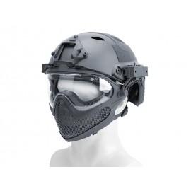 Pilot Helmet Steel Mesh Grey