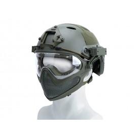 Pilot Helmet Steel Mesh OD