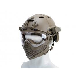 Pilot Helmet Steel Mesh Tan
