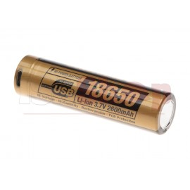 18650 Battery 3.7V 2600mAh Micro-USB