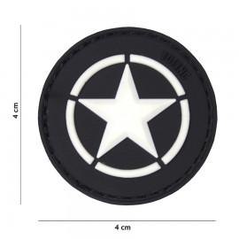 Allied Star Black 3D PVC Patch