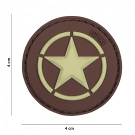 Allied Star Brown 3D PVC Patch
