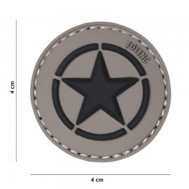 Allied Star Grey 3D PVC Patch