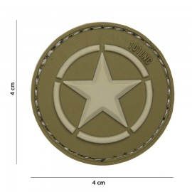 Allied Star Green 3D PVC Patch