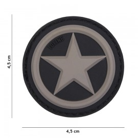 USA Star Grey 3D PVC Patch