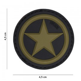 USA Star Green 3D PVC Patch