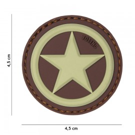 USA Star Coyote 3D PVC Patch