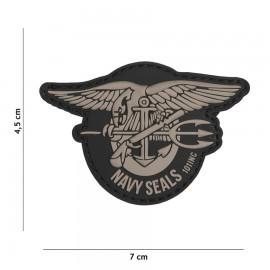 Navy Seals Grey 3D PVC Patch