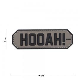 Hooah! Grey 3D PVC Patch