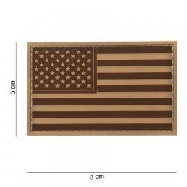 USA Flag PVC Patch Desert
