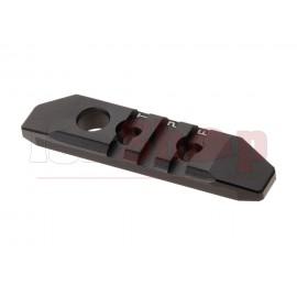 3-Slot M-LOK and Keymod Aluminum Rail Black