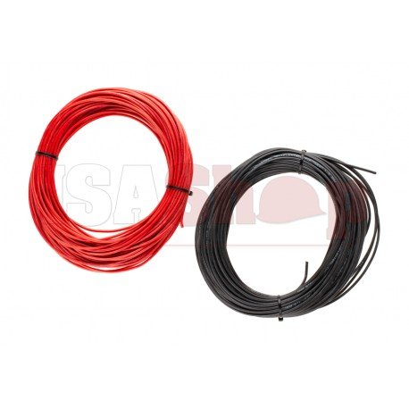 Low Resistance Wire 2x 25m Black + Red