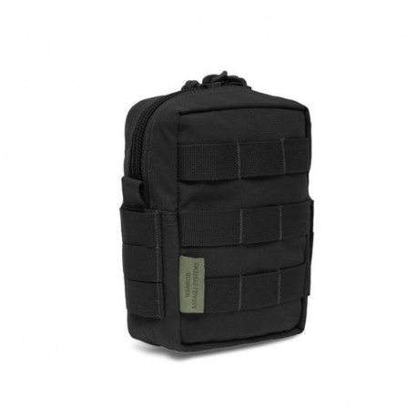 Small MOLLE Utility Pouch Zipped Black