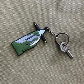 3D PVC Spitfire Keychain