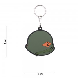 3D PVC 2nd Rangers Helmet Keychain