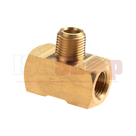 HPA Twin Coupling T Shape - 2x Inner 1/8NPT - Output I