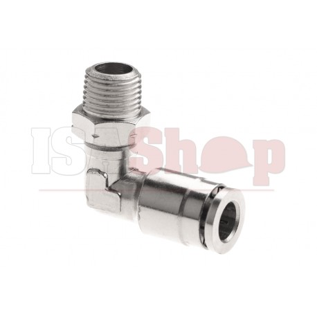 HPA 6mm Hose Coupling 90 Degree - Outer 1/8 NPT