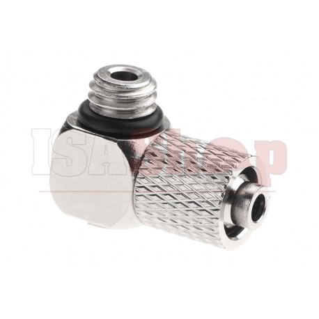 HPA 6mm Hose Coupling with Screwed Catch 90 Degree - Outer M6 Thread