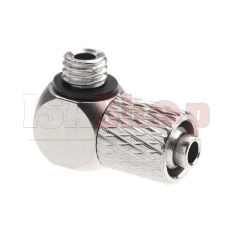HPA 6mm Hose Coupling with Screwed Catch 90 Degree - Outer M5 Thread