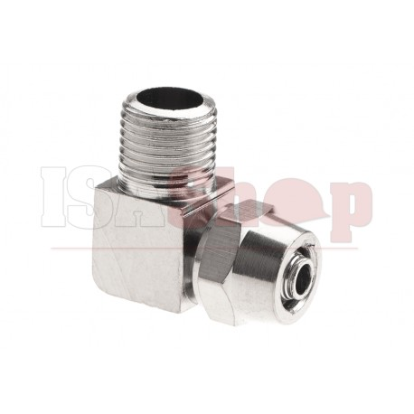 HPA 6mm Hose Coupling with Screwed Catch 90 Degree - Outer 1/8 NPT